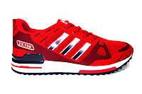 Женские кроссовки Adidas ZX  750, текстиль, красные, Р. 36 38 39