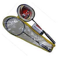 Бадминтон BD0118 (30шт) 2 ракетки с воланчиками, в чехле 66 см