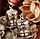 Набор чашек для кофе на 6 персон Sena Серебристый цветок, фото 6