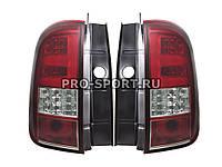 Задние тюнинг фонари Renault Duster светодиодные тонированные красные Рено Дастер