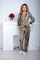 Брендовый турецкий леопардовый костюм от 42 по 48 размер