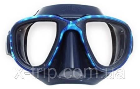 Маска для фридайвинга Omer Alien blue silicone Ocean Mimetic mirror lens 602OS