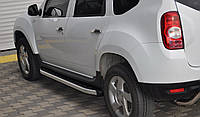 Боковые пороги Fullmond (площадка, ступенька) Renault Duster Рено Дастер