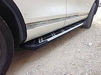Боковые пороги Sunrise (площадка, ступенька) Renault Duster Рено Дастер