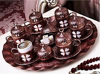 Набор чашек для кофе Бронзовый цветок на 6 персон, фото 1