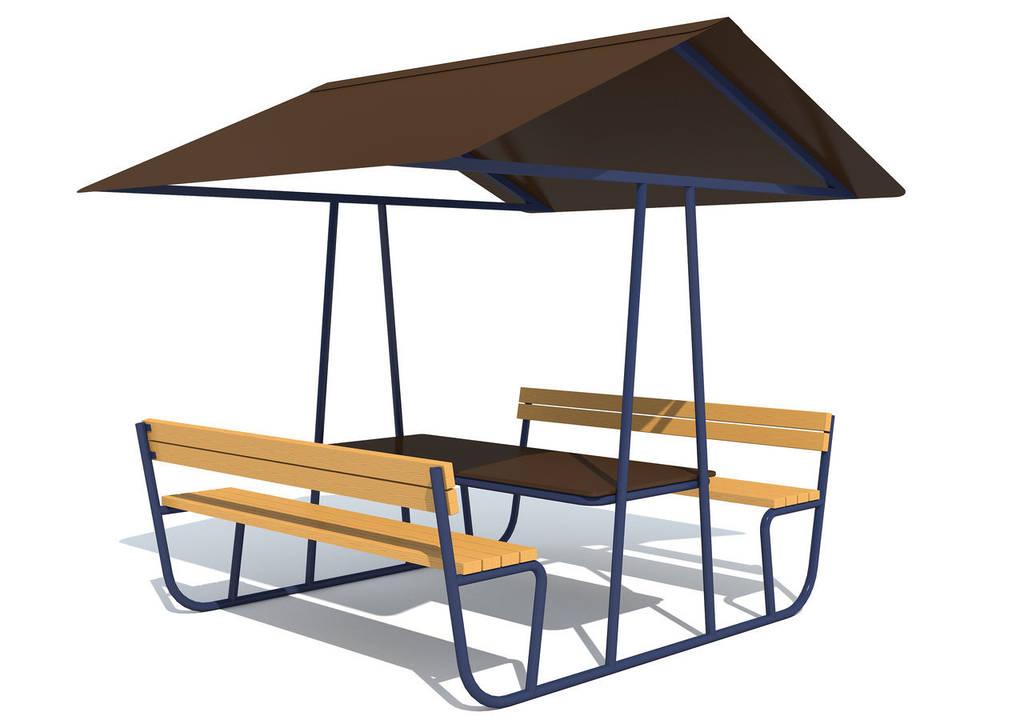 Стол со скамейками «Дорожное кафе»