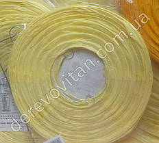 Бумажный подвесной фонарик, светло-желтый, 45 см