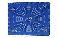 Силиконовый коврик для раскатки теста, коврик для запекания, коврик для теста с разметкой, 64х45 см
