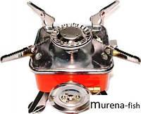 Плита газовая туристическая складная с пьезо-поджигом
