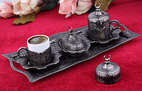 Набор чашек для кофе Бронзовый тюльпан на 2 персоны