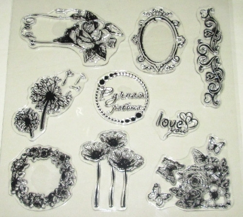 Штампы силиконовые Цветы