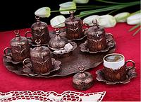 Набор чашек для кофе на 6 персон Sena Бронзовый тюльпан, фото 1