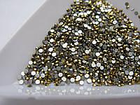 Стразы для ногтей ss3 Gold, 100шт. (1,3-1,4мм)