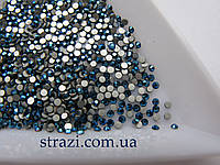 Стразы для ногтей ss3 Metallic Blue, 100шт. (1,3-1,4мм)