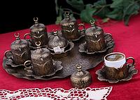 Набор чашек для кофе Бронзовый тюльпан на 6 персон, фото 1
