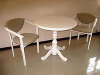 Стол из натурального дерева  «К 1» круглый диаметр 800 мм.