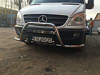 Захист переднього бампера з вусами (кенгурятник, бугель, дуга) Mercedes Sprinter 906