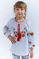 Яркая удлиненная вышитая сорочка для девочек