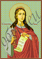 Схема для вышивания бисером икона Св. Варвара КМИ 4110
