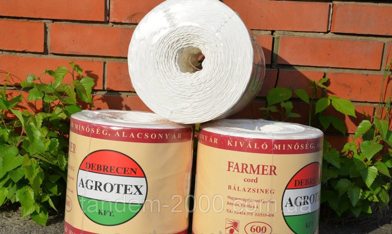 Шпагат AGROTEX белый 600 М/KG 1666 tex (бухта 5 Кг, 3000 м)