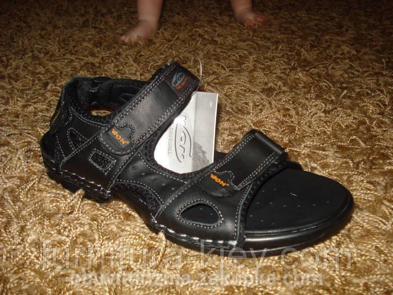 Фирменные кожаные сандалии WON №-3 (41/42/43/44/45/46), фото 1
