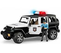 Машинка - джип Полиция Wrangler Unlimited Rubicon c фигуркой полицейского, Bruder 02526