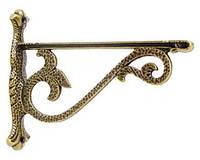 Менсолодержатель W2G-11201-Z20 Полкодержатель декоративный, античная бронза, фото 1