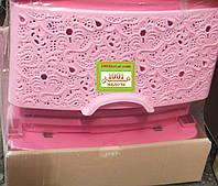 Комод пластиковый Ажур розовый, Украина