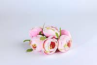 Эустома с тычинками из ткани светло-розовая диаметр 5 см 1 шт