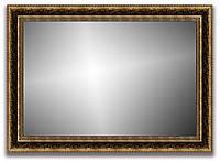 Рамка для зеркала 60х40 см коричневая