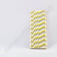 Набор бумажных трубочек, серо-желтые, 25 шт.