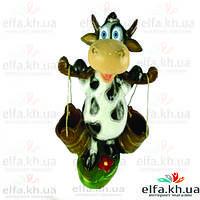 Садовая фигура Корова с ведрами 50 см.