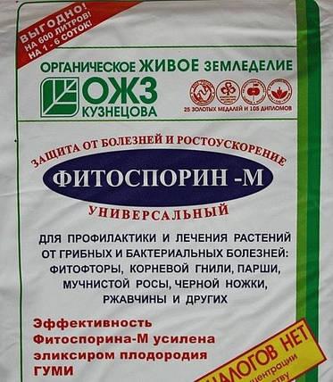Биофунгицид Фитоспорин-М паста (100 г) — профилактика грибковых и бактериальных заболеваний на растениях, фото 2