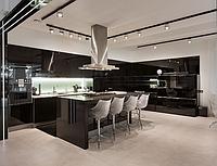 Кухня  МДФ черные
