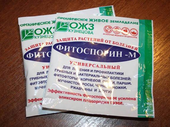 Биофунгицид Фитоспорин-М (10 г) порошок — профилактика грибковых и бактериальных заболеваний на растениях, фото 2