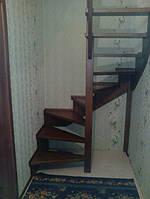 Драбина дубова у вузький коридор, фото 1