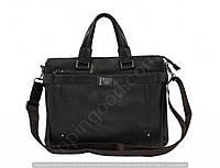Мужская сумка Bradford 8645-5 черная формата А4 из искусственной кожи плечевой ремень