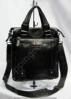 Мужская сумка Bradford 8645-3 черная искусственная кожа