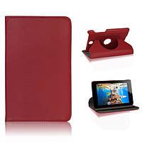 Вращающийся красный чехол для ASUS FonePad ME371 MG из синтетической кожи.