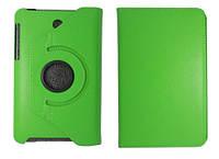 Вращающийся зеленый чехол для ASUS FonePad ME371 MG из синтетической кожи.