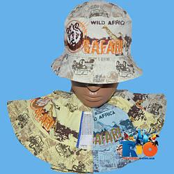 Детская летняя панамка арт.2700 (вставка - сетка) , для мальчика (р-р 48-50)