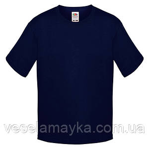 Темно-синяя детская футболка Премиум
