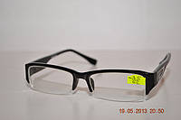 Полуоправные очки диоптрийные со стеклом