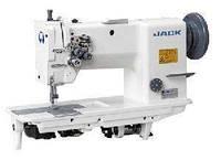 Jack JK-5942C-2 Двухигольная промышленная швейная машина для очень тяжелых материалов с тройным продвижением, без отключения игл
