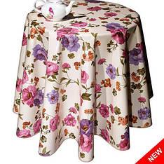 Турецкая клеенка на стол  DEKORAMA Нежные цветы