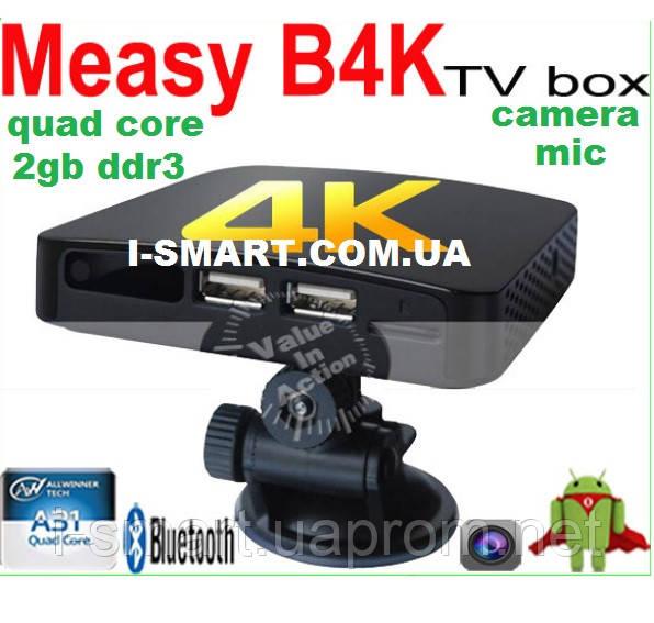 Measy B4K Android TV BOX Quad Core TV Box Android 4.2 OS Mini PC 2G/8G Bluetooth 2.0MP+MIC 4K Video