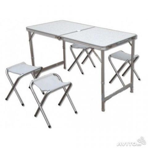 Раскладной стол 4 стула LIBAO