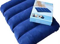 Надувная флокированная подушка Intex 68672