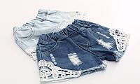 Стильні джинсові шортики на дівчинку