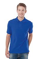 Мужская футболка-поло  цвет синий